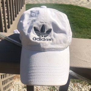 Adidas white ponytail hat